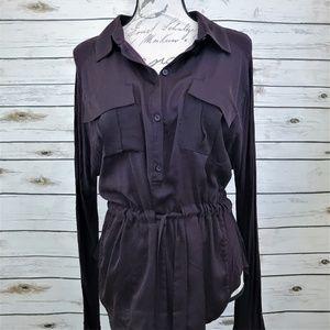 Purple Button Down NY & Co Blouse